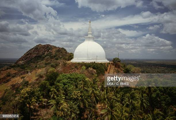 Maha Stupa on the Mihintale hill 719 AD near Anuradhapura Sri Lanka