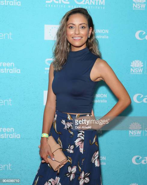 Maha Wilson attends the Flickerfest International Short Film Festival Opening Night at Bondi Beach on January 12 2018 in Sydney Australia