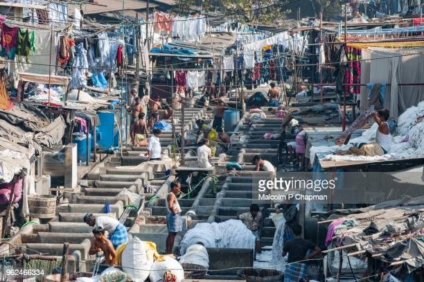 Mahalaxmi Dhobi Ghat, Mumbai, India - World's largest outdoor laundry.