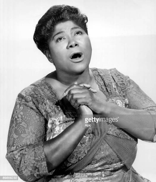 Mahalia Jackson american black singer of Gospel here c 1955