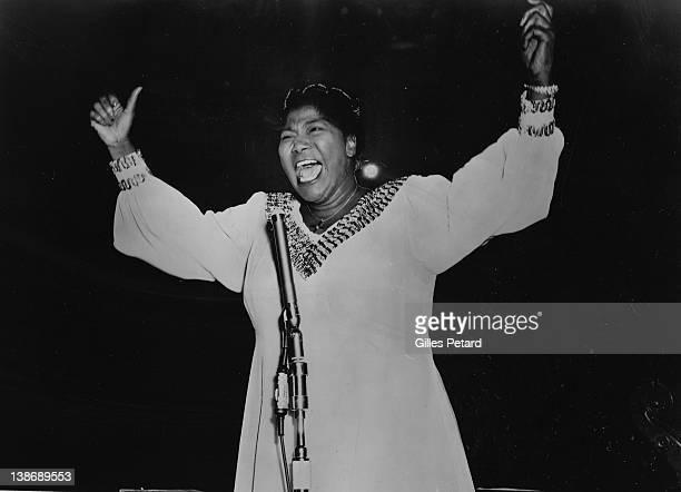Mahalia Jackson performs on stage USA 1959