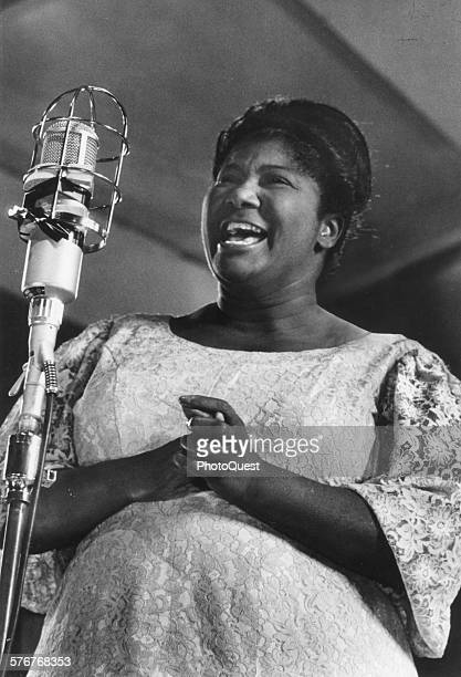 Mahalia Jackson renowned American folk singer is best known for her spirituals New York New York 1965