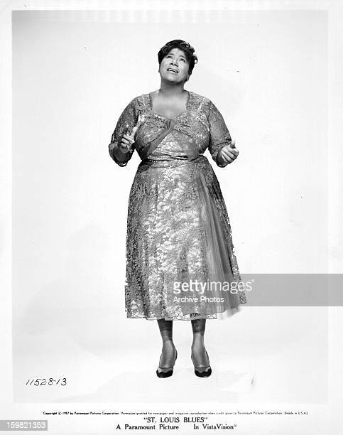 Mahalia Jackson singing in a scene from the film 'St Louis Blues' 1957