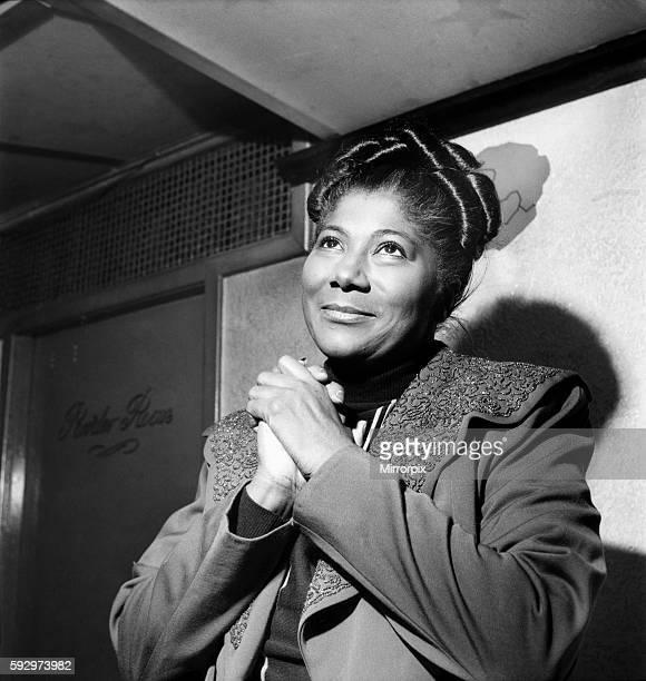 Mahalia Jackson US Gospel Singer November 1952 C5438