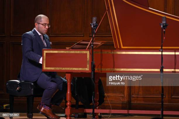 Mahan Esfahani on harpsichord performing the music of Tomkins Farnaby Cowell Kalabis Bach and Reich at the 92nd Street Y's Buttenwieser Hall on...