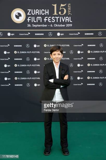 """Mahan Nasirineda attends the """"Son-Mother"""" photo call during the 15th Zurich Film Festival at Kino Corso on September 30, 2019 in Zurich, Switzerland."""