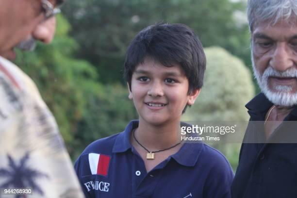 Mahanaryaman son of Congress leader Jyotiraditya Scindia during the Madhavrao Scindia Gold Tournament 2008 at DLF Golf Course in Gurgaon