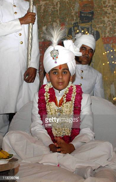 Maharaja of Jaipur Kumar Padmanabh Singh sits at his coronation ceremony at the city palace in Jaipur on April 28 2011 Padmanabh Singh's grandfather...