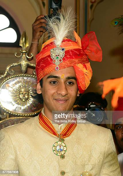 Maharaja Padmanabh Singh at his 18th birthday celebrations with traditional rituals and ceremonies at the City Palace in Jaipur