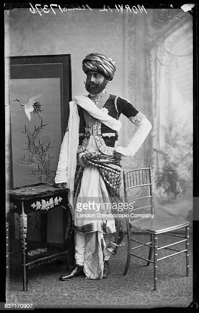 Maharaja Shri Sir Waghji II Rawaji Sahib Bahadur Thakore Sahib of the princely state of Morvi in the Indian state of Gujarat circa 1887