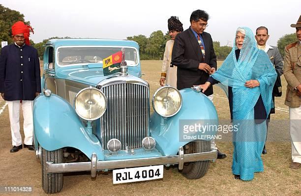 Maharani Gayatri Devi Mr Puri Polo tournament on the field of Rambagh Palace Jaipur in Jaipur India