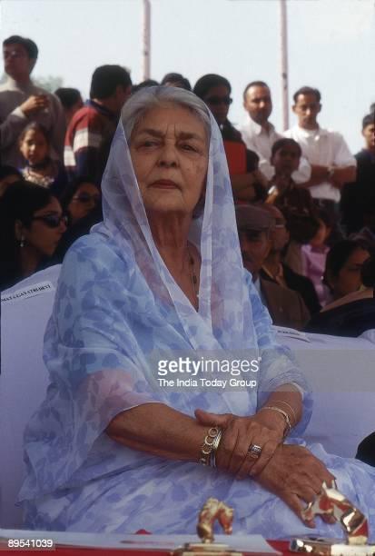 Maharani Gayatri Devi, Rajmata of Jaipur is shown on March 5, 2001 in India.