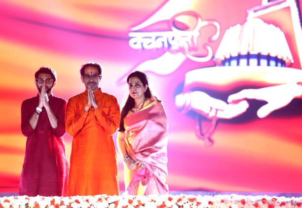 IND: Shiv Sena Leaders Felicitate Uddhav Thackeray At Party's Event In Mumbai