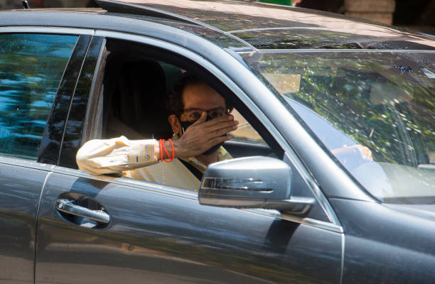 IND: Maharashtra Chief Minister Uddhav Thackeray Drives Himself To Attend State Cabinet Meeting
