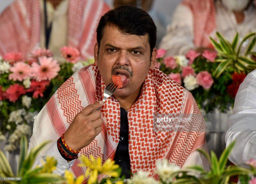 IND: Maharashtra CM Devendra Fadnavis Attends An Iftar Party At Haj House In Mumbai