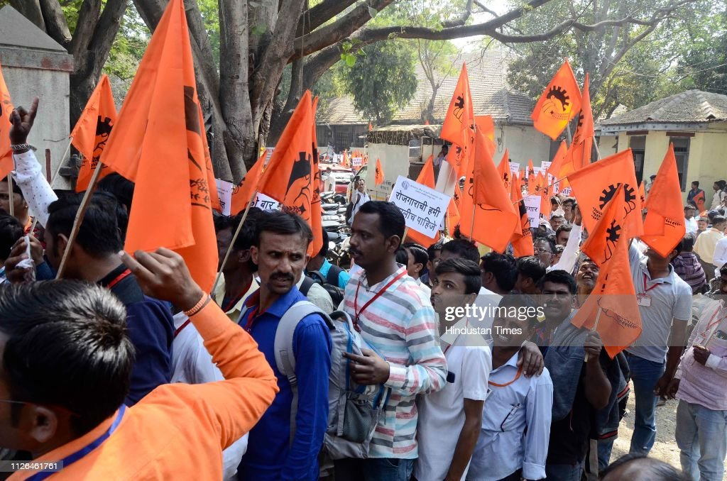 IND: Maharashtra Vij Kantrati Kamgar Sangh Organizes Protest March In Pune