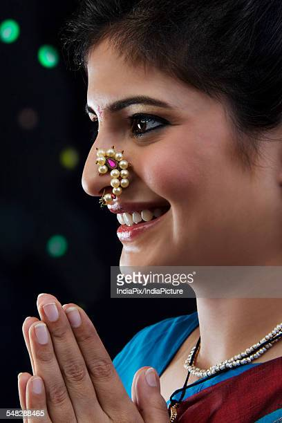 Maharashtrian woman greeting