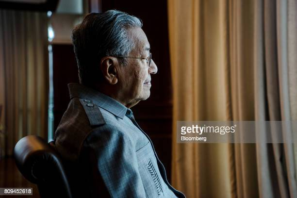 Mahathir Mohamad Malaysia's former prime minister poses for a photograph in Kuala Lumpur Malaysia on Friday June 23 2017 Mahathir hasn't lost any of...