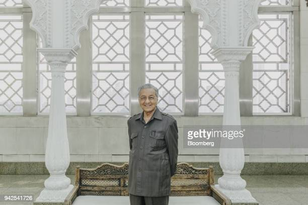 Mahathir Mohamad Malaysia's former prime minister poses for a photograph in Kuala Lumpur Malaysia on Friday April 6 2018 Mahathir pledged to abolish...