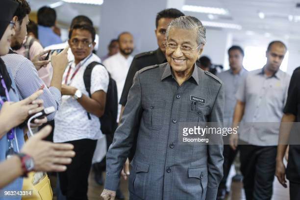 Mahathir Mohamad Malaysia's prime minister attends a news conference in Petaling Jaya Malaysia on Monday May 28 2018 Mahathir said he will cancel a...