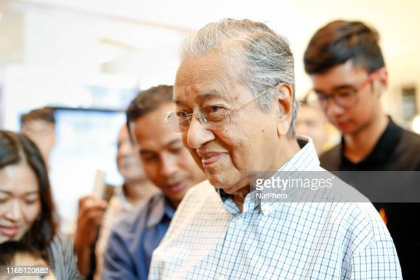 Mahathir Mohamad, Malaysia's prime minister, made his appearance in the Pavilion shopping complex in Kuala Lumpur, Malaysia after the 62th...