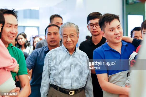 Mahathir Mohamad, Malaysia's prime minister made his appearance in the Pavilion shopping complex in Kuala Lumpur, Malaysia after the 62th...