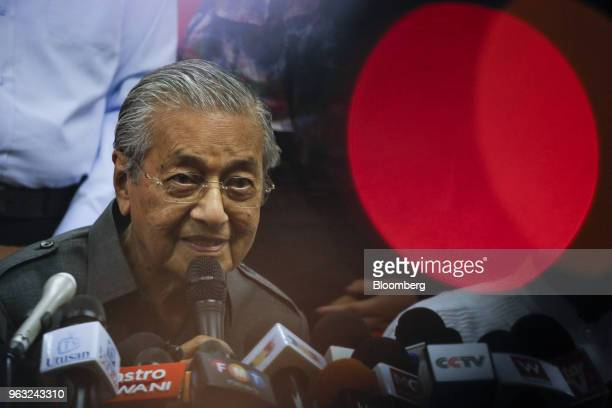 Mahathir Mohamad Malaysia's prime minister speaks during a news conference in Petaling Jaya Malaysia on Monday May 28 2018 Mahathir said he will...