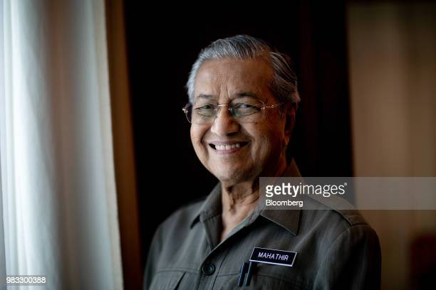 Mahathir Mohamad, Malaysias prime minister, stands for a photograph in his office in Kuala Lumpur, Malaysia, on Friday, June 22, 2018.Mahathir said...