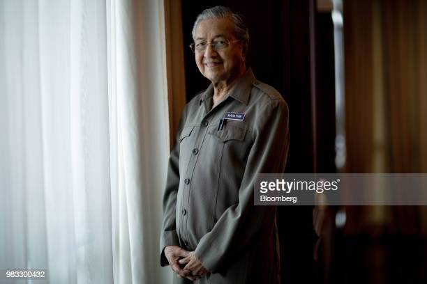 Mahathir Mohamad Malaysias prime minister stands for a photograph in his office in Kuala Lumpur Malaysia on Friday June 22 2018Mahathir said the...
