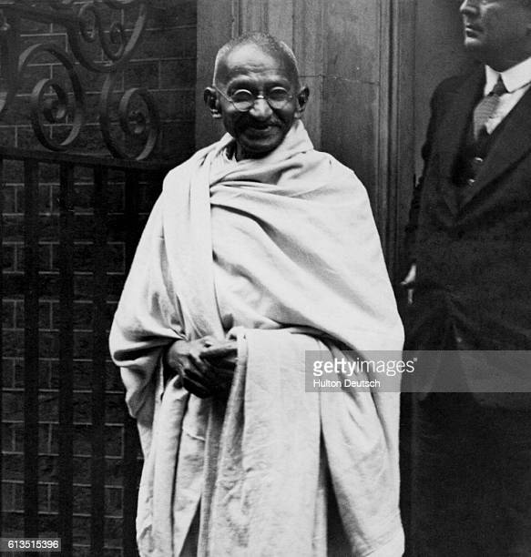 Mahatma Gandhi in Doorway