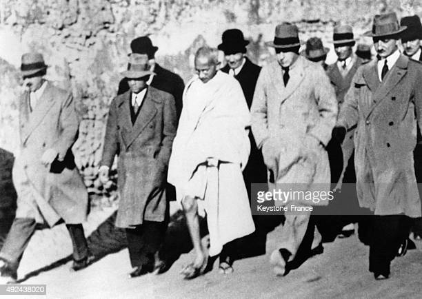Mahatma Gandhi in the streets of Brindisi Italy
