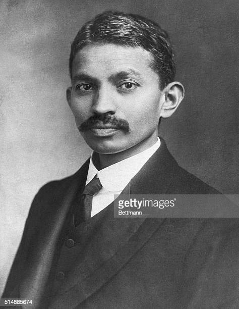 Mahatma Gandhi Indian Nationalist and spiritual leader Head and shoulders photograph 12/21/21