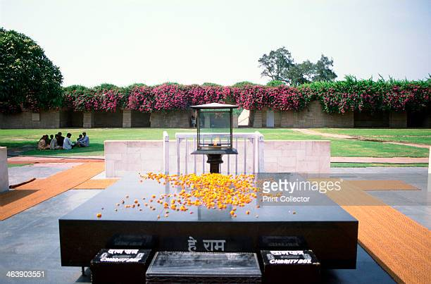 Mahatma Gandhi Memorial, Delhi, with an everlasting flame, 20th century. Mohandas Karamchand Gandhi , known as Mahatma , was one of the leaders of...