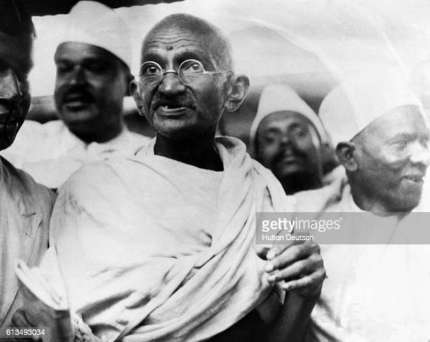Mahatma Gandhi the leader of campaigns of nonviolence and civil disobedience in the struggle for Indian Independence