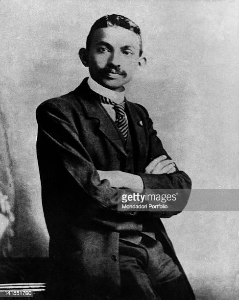 Mahatma Gandhi wearing western clothes. India, 1893