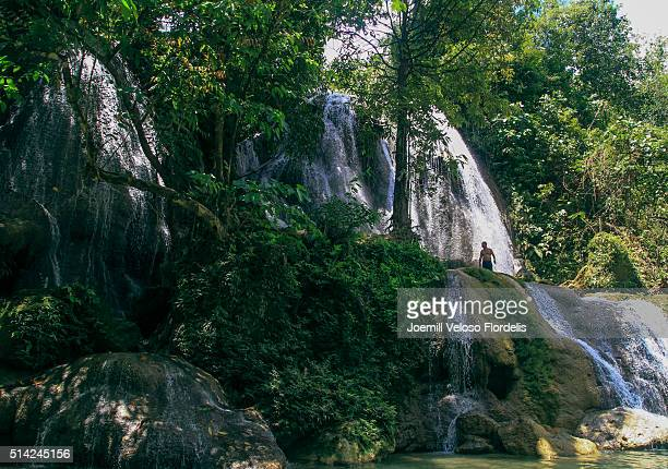 mahayahay falls, matalom, leyte - joemill flordelis stock pictures, royalty-free photos & images