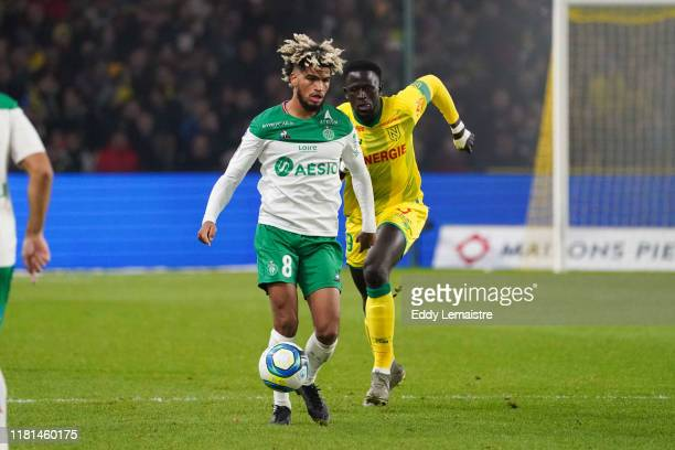Mahdi CAMARA of Saint Etienne during the Ligue 1 match between Nantes and Saint Etienne at Stade de la Beaujoire on November 10 2019 in Nantes France
