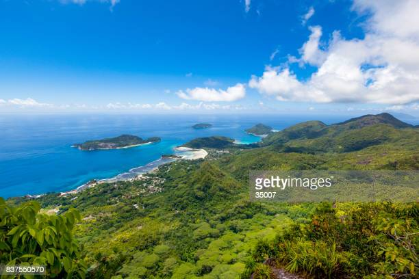 mahe coastline landscape, seychelles - seychelles stock pictures, royalty-free photos & images