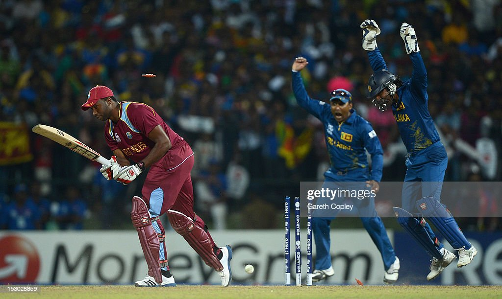 Sri Lanka v West Indies - ICC World Twenty20 2012: Super Eights Group 1 : News Photo