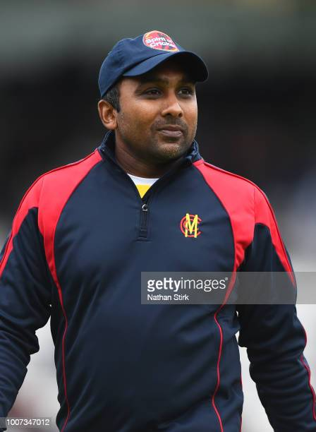 Mahela Jayawardene of MCC looks on during the T20 Triangular Tournament match between MCC and Nepal at Lords on July 29, 2018 in London, England.
