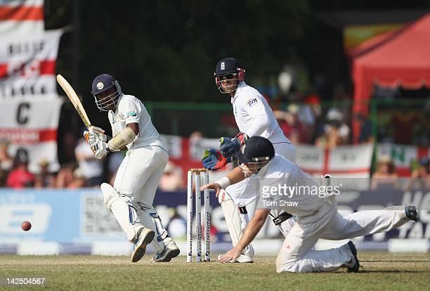 Mahela Jayawardene of Sri Lanka bats during day 4 of the 2nd test match between Sri Lanka and England at the P Sara Stadium on April 6 2012 in...