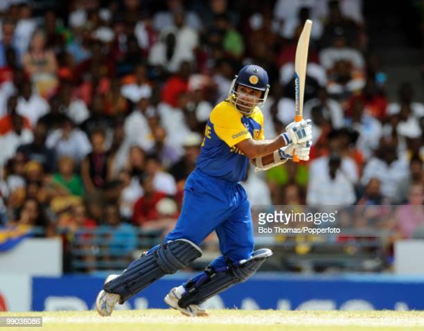 Mahela Jayawardene of Sri Lanka bats during the ICC World Twenty20 Super Eight match between West Indies and Sri Lanka at the Kensington Oval on May...