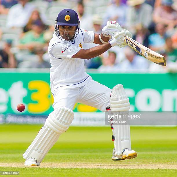 Mahela Jayawardene of Sri Lanka batting during the Investec 1st Test Match day three between England and Sri Lanka at Lords Cricket Ground on June 14...