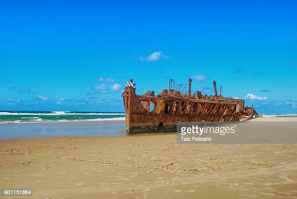 S.S. Maheno (shipwreck) at Fraser Island, Queensland, Australia, Oceania