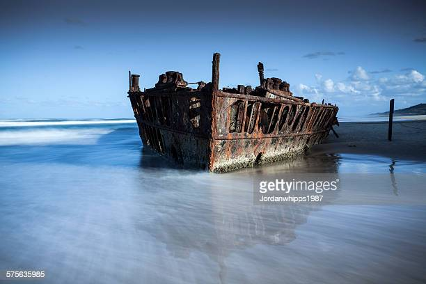 ss maheno - disintegration stock photos and pictures