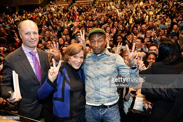 Maher Nasser OfficerinCharge Department of Public Information United Nations Sylvia Earle National Geographic ExplorerinResidence and Pharrell...