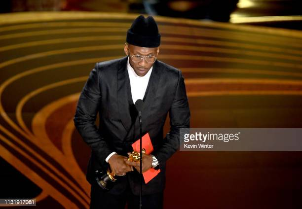 Mahershala Ali accepts the Actor in a Supporting Role award for 'Green Book' onstage during the 91st Annual Academy Awards at Dolby Theatre on...