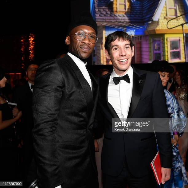 Mahershala Ali and Alex Honnold attend the 91st Annual Academy Awards Governors Ball at Hollywood and Highland on February 24 2019 in Hollywood...