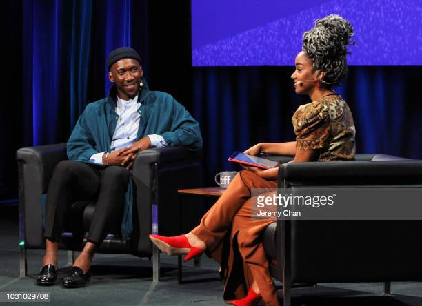 Mahershala Ali and Amanda Parris attend 'In Conversation WithMahershala Ali' during 2018 Toronto International Film Festival at Glenn Gould Studio at...