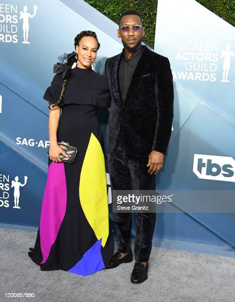 Mahershala Ali and Amatus SamiKarim arrives at the 26th Annual Screen ActorsGuild Awards at The Shrine Auditorium on January 19 2020 in Los Angeles...